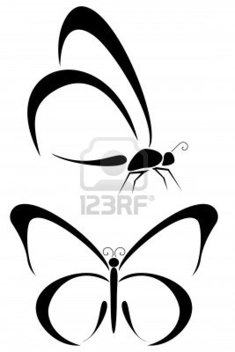 801x1200 Black Butterfly Tattoo Designs