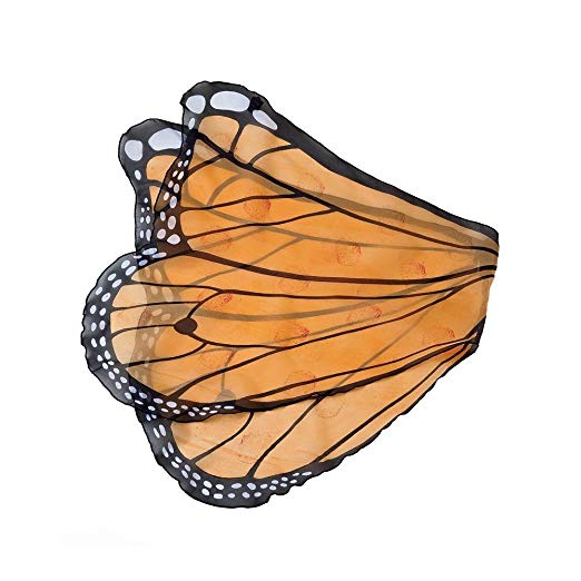 522x522 Fanciful Fabric Butterfly Wings, In Orange Clothing
