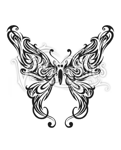 468x580 Graphic Tribal Butterfly Wings Clip Art