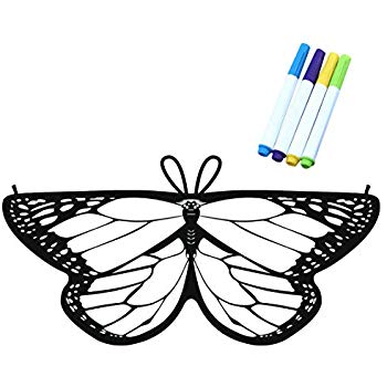 350x350 Kids Coloring For Butterfly Wings Crafts Fairy Wings
