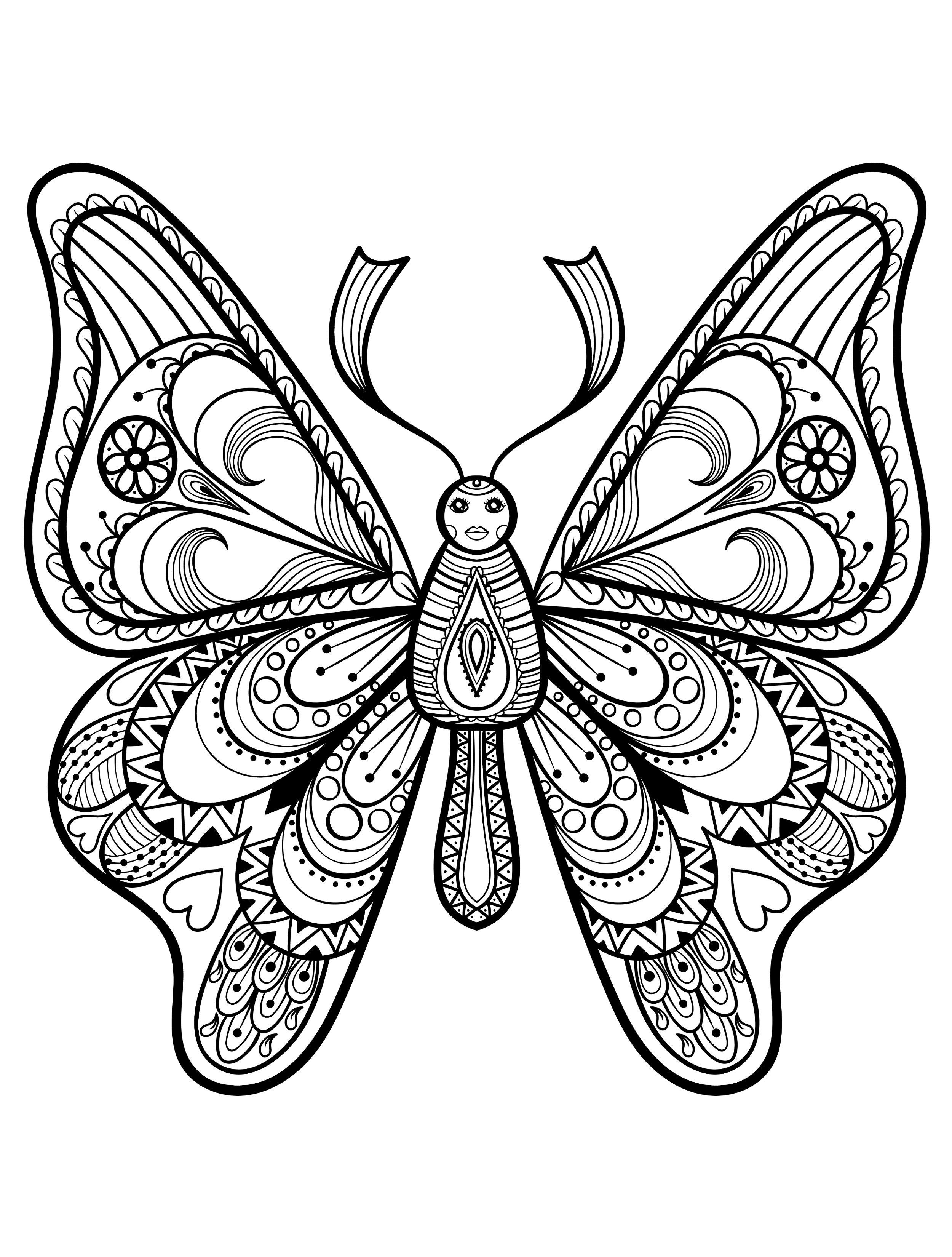 2500x3300 Butterfly Coloring Pages Crafts