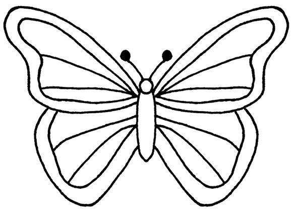 581x422 Butterfly Outline Clipart Beautiful Simple Butterfly Wings D