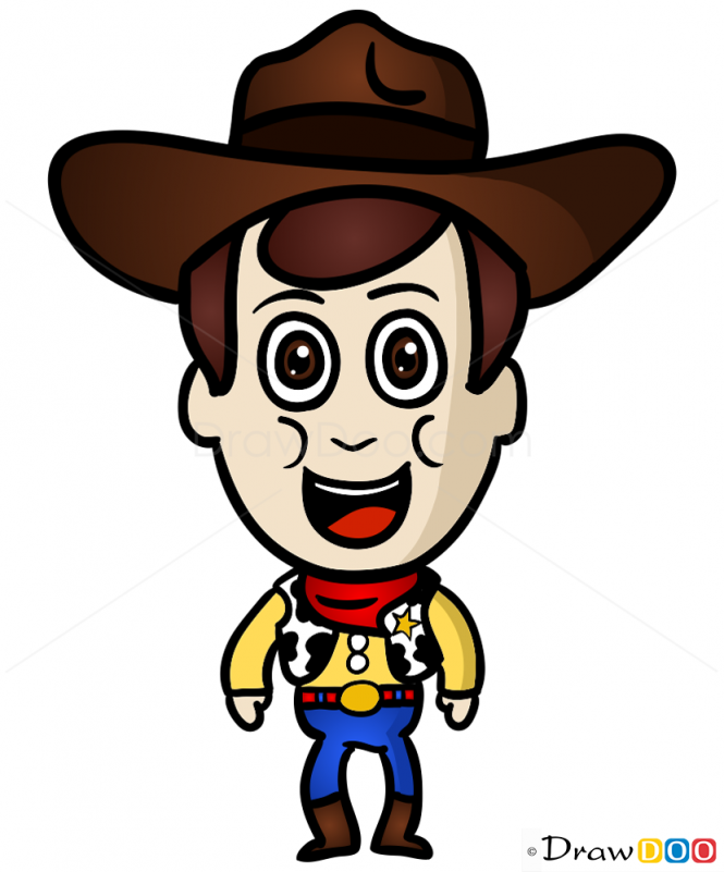 665x801 how to draw sheriff woody, chibi drawdoo sheriff woody, chibi