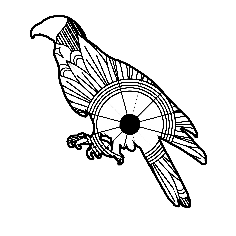 3000x3000 buzzard mandala mandala mandala, design