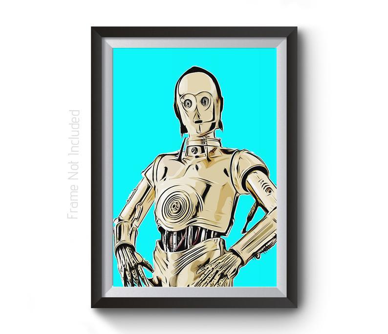 794x683 Star Wars Wall Art Poster Kids Wall Art Star Wars Etsy