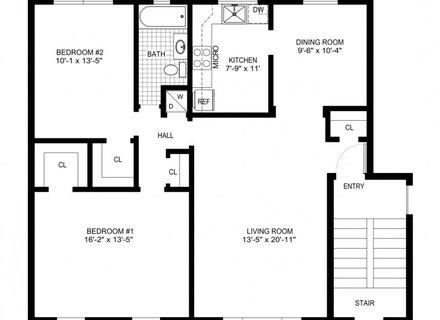 440x320 detailed kitchen floor plan architectural, architectural floor