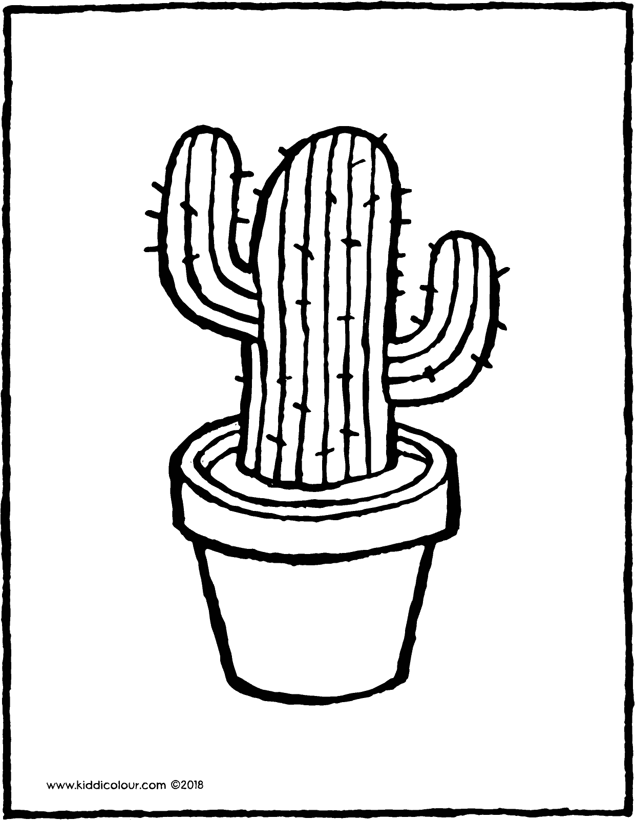 cactus line drawing free on clipartmag