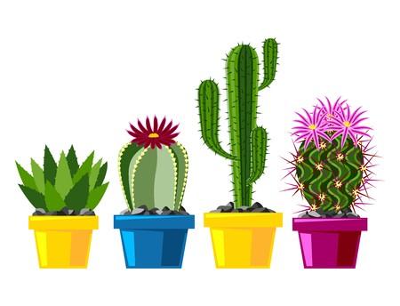 450x344 Cactus Flat Style Nature Desert Flower Green Cartoon Drawing