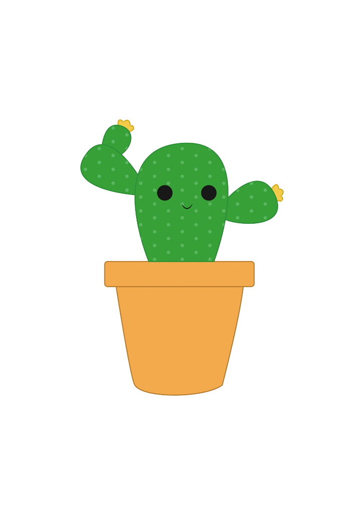 725x1024 Download Plant Drawing Cactus Cartoon Cactaceae Hd Image Free Png