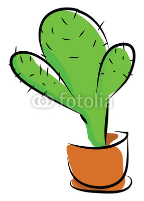 287x400 A Green Cactus Plant Potted In An Earthen Pot Provides Extra Style