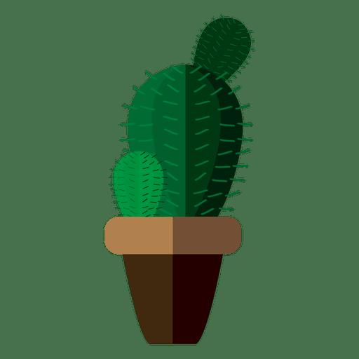 512x512 Flat Rounded Cactus Pot Drawing