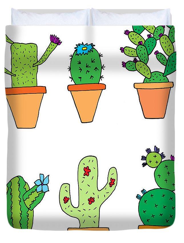645x853 Hand Drawn Illustration Of Whimsical Cartoon Style Cactus Plants