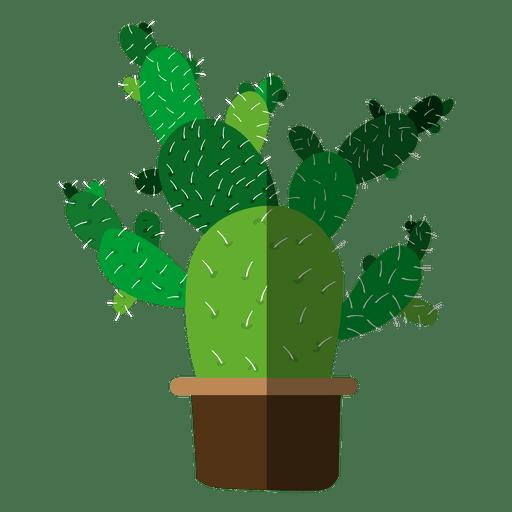 512x512 Multiple Flat Cactus Pot Drawing