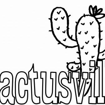 336x336 Cactus Coloring Book