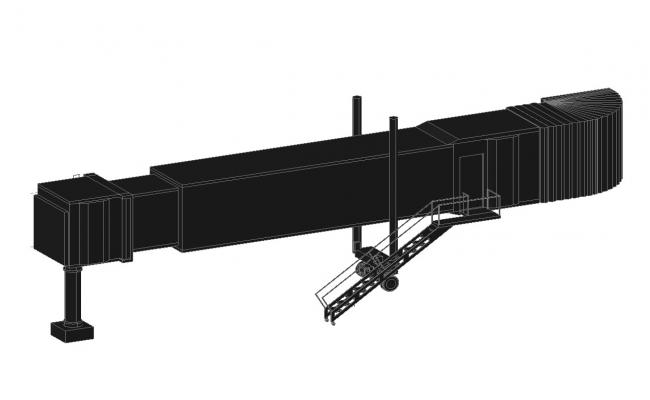 650x400 Control Tower Building Model Cad Drawing Details Dwg