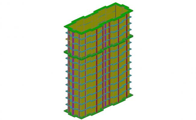 650x400 High Rise Corporate Building Model Cad Drawing Details Dwg