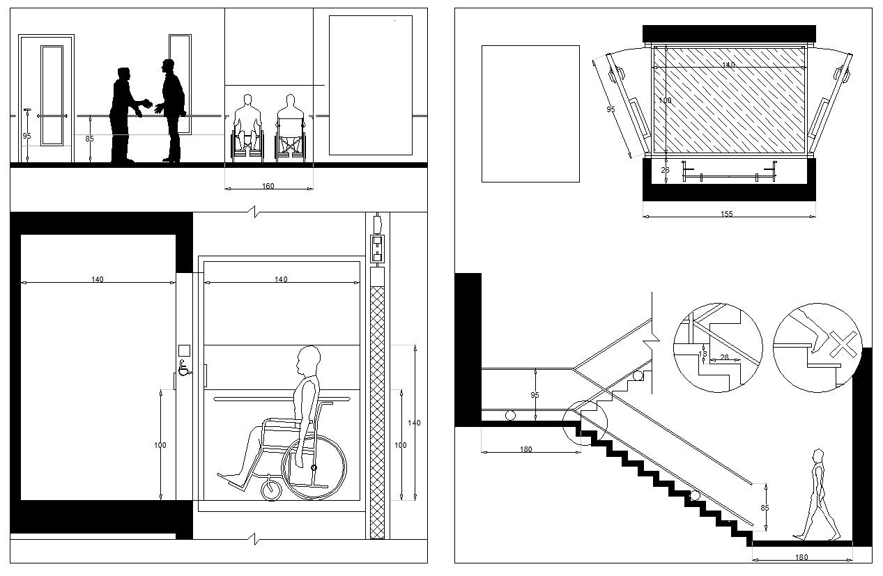 1267x827 Accessibility Facilities Drawings Cad Design Free Cad