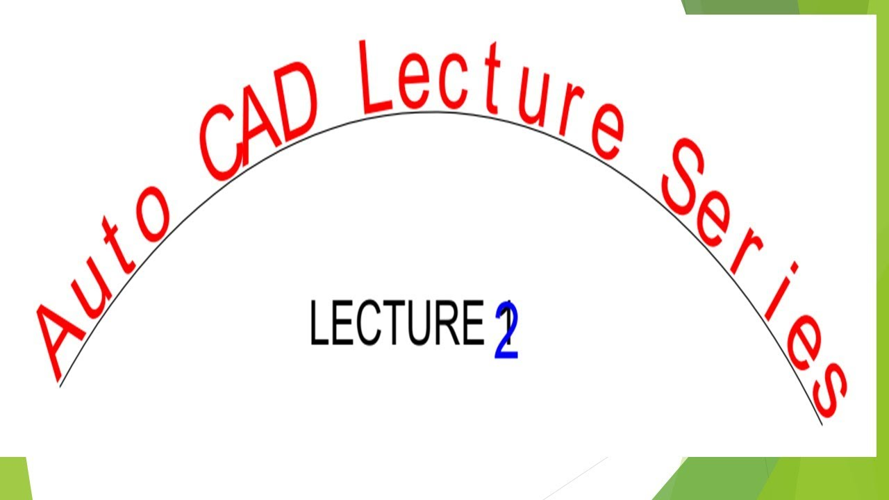 1280x720 Auto Cad Lecture Series Lecture Line Plan Of Building