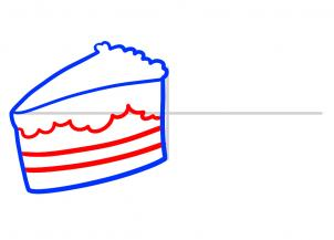 302x217 how to draw cakes, cakes, step