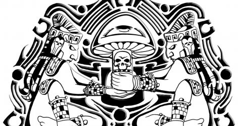 471x250 Aztec Tattoos Desert Easy Calendar Drawing Codex Charcoal Dragon