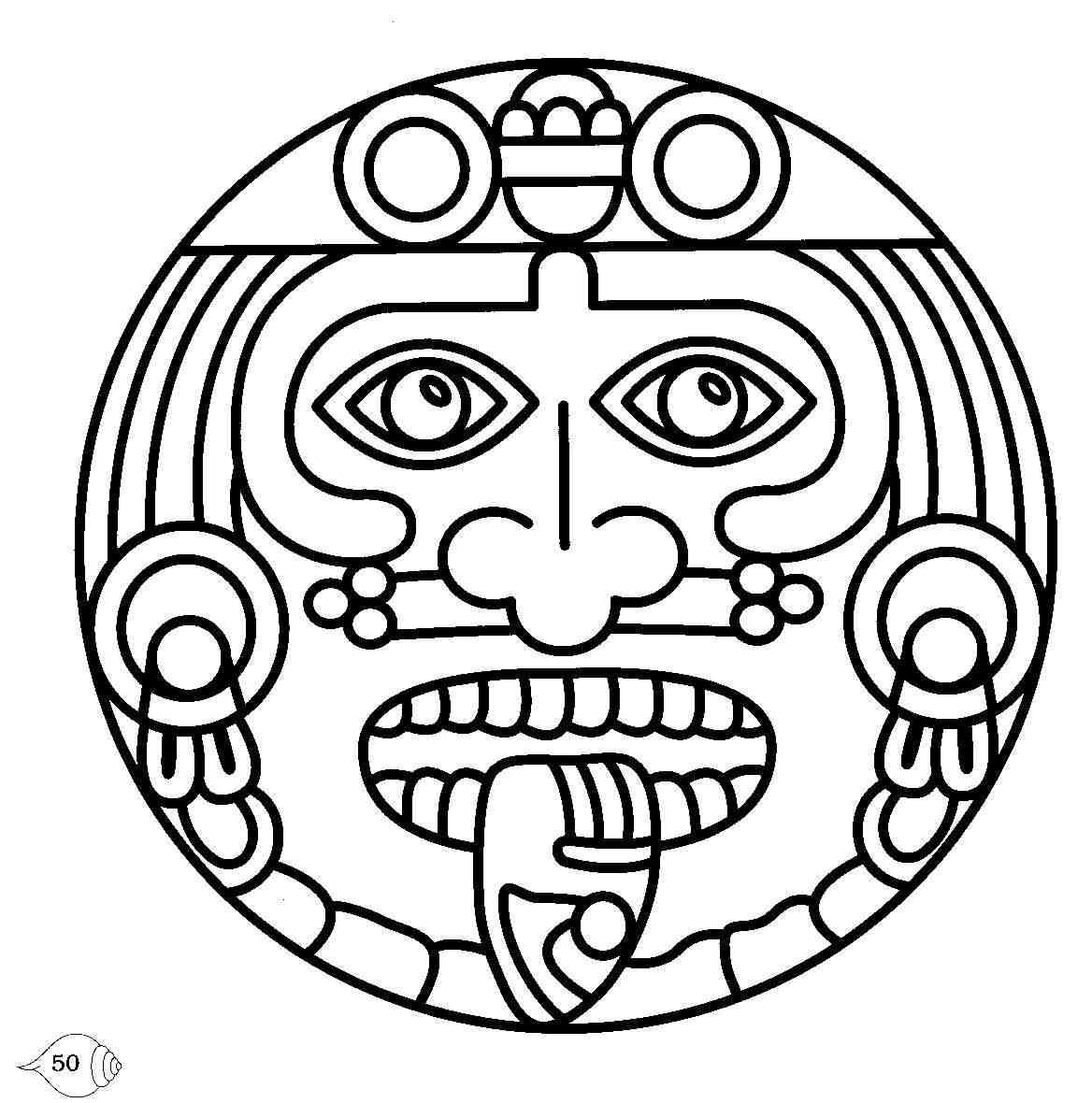 1168x1180 Aztec Calendar Clipart