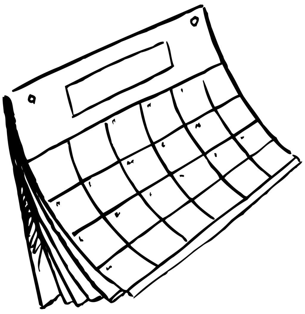 1024x1056 Calendar Clipart Sketch