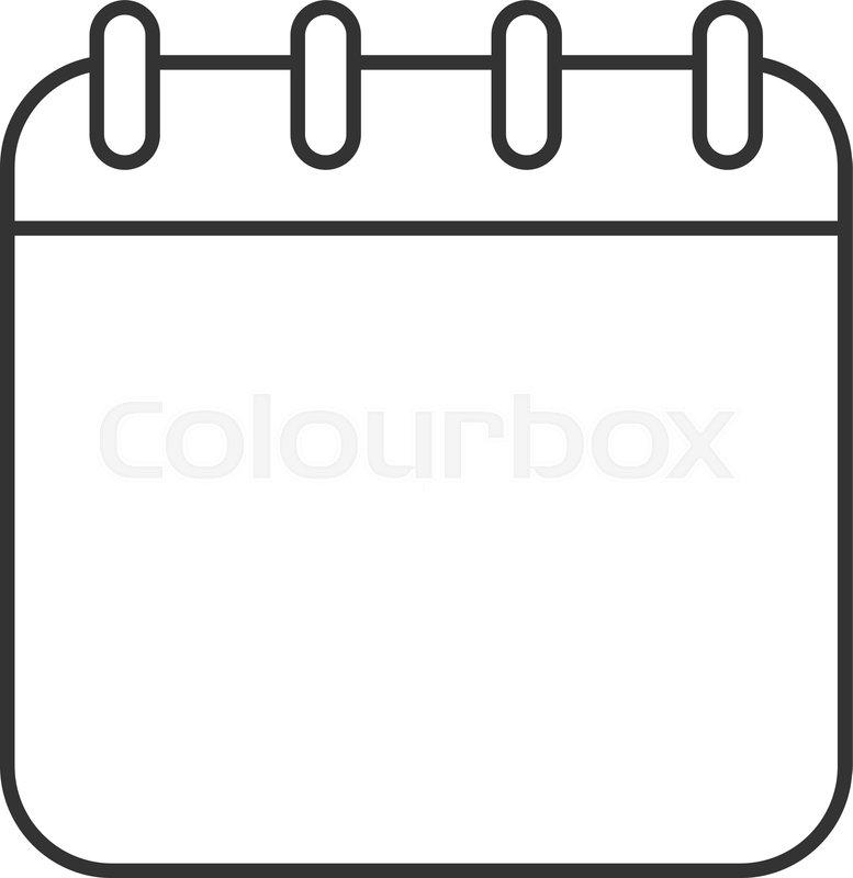 777x800 Calendar Linear Icon Thin Line Stock Vector Colourbox
