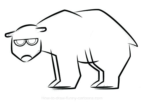 500x360 Drawings Of A Bear Polar Bear Outlined New Calendar Template Site