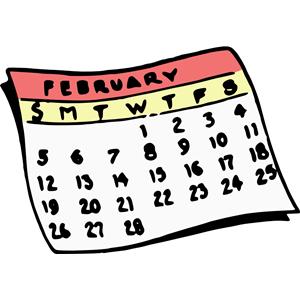300x300 February Calendar Clipart, Cliparts Of February Calendar Free