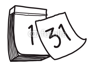 400x286 Calendar Cartoon Vector And Illustration, Black And White, Hand