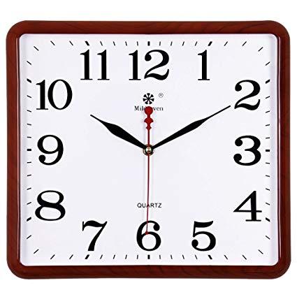 425x425 Aiziji Square Electronic Wall Clock Drawing Mute Watches Home