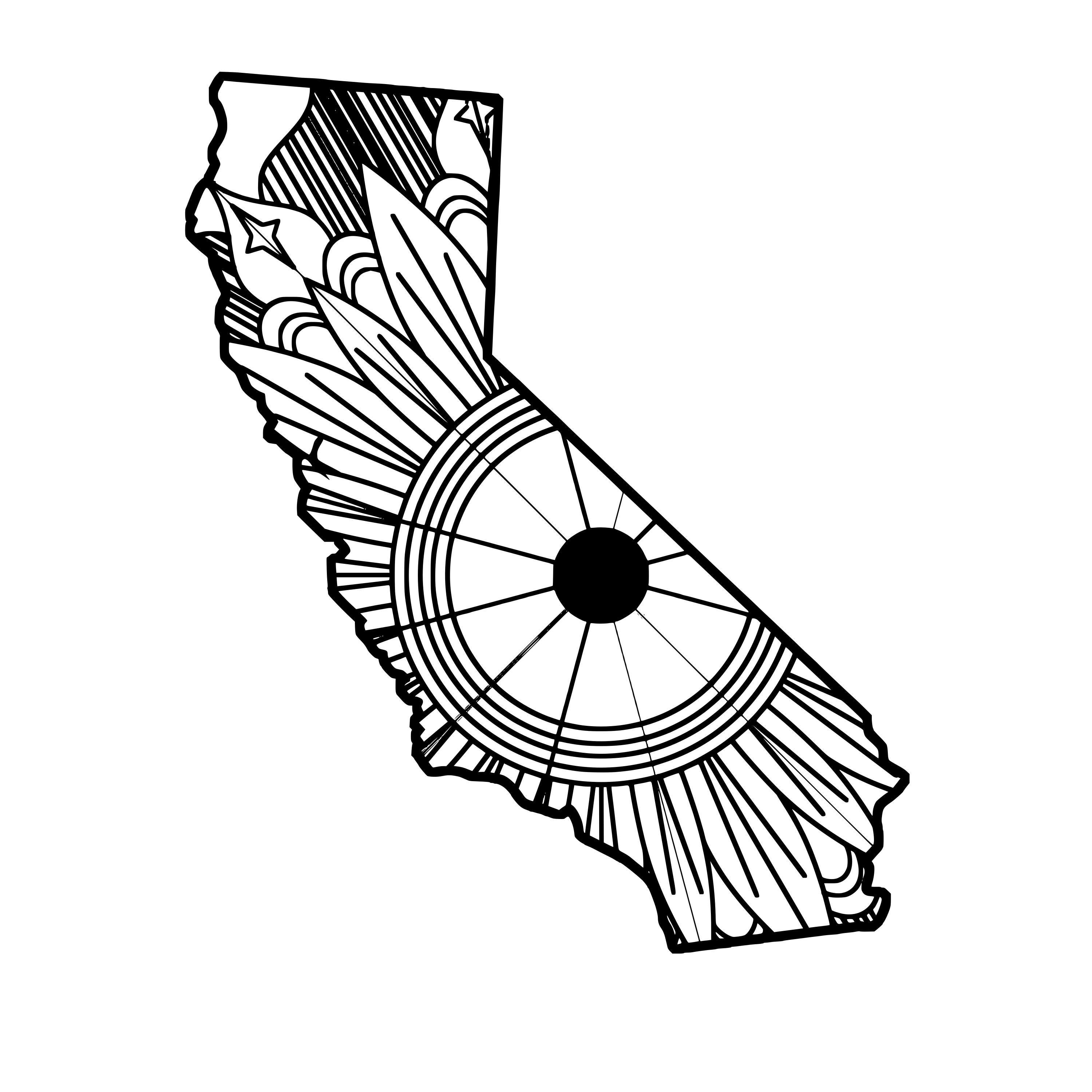 3000x3000 california map mandala mandala california map, mandala, map