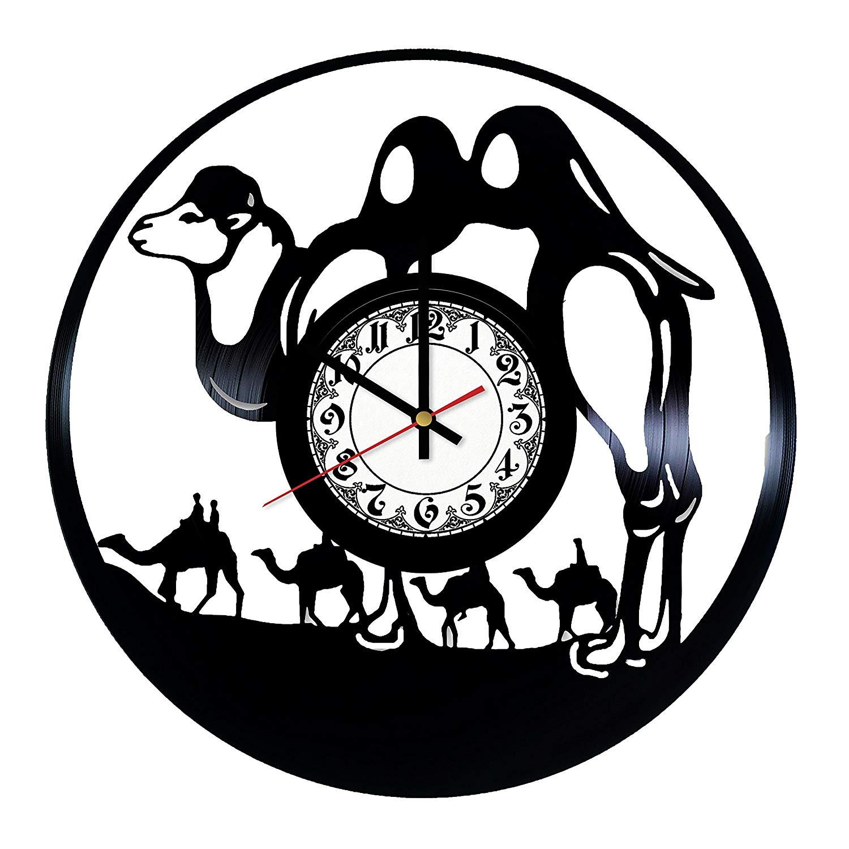 1500x1500 in na desert camel caravan design vinyl clock, vinyl