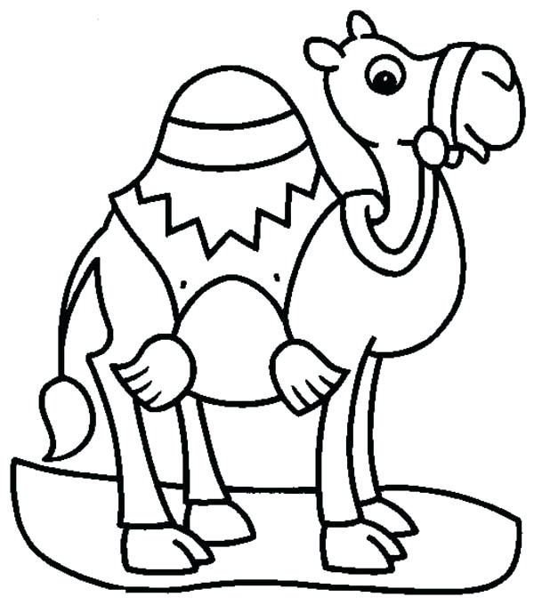 600x680 Camel Cartoon Drawing At Com Free For Personal Us On Coloring