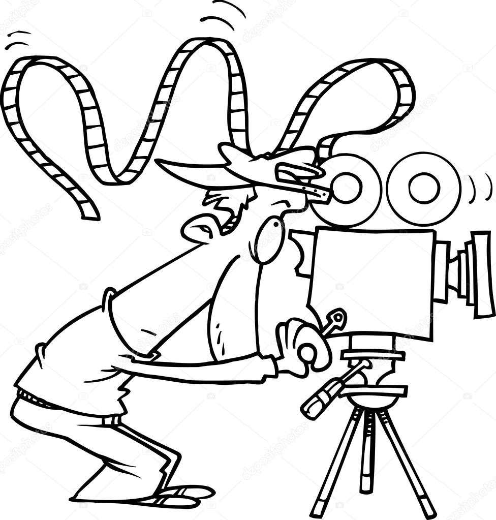 976x1023 film drawing cameraman for free download