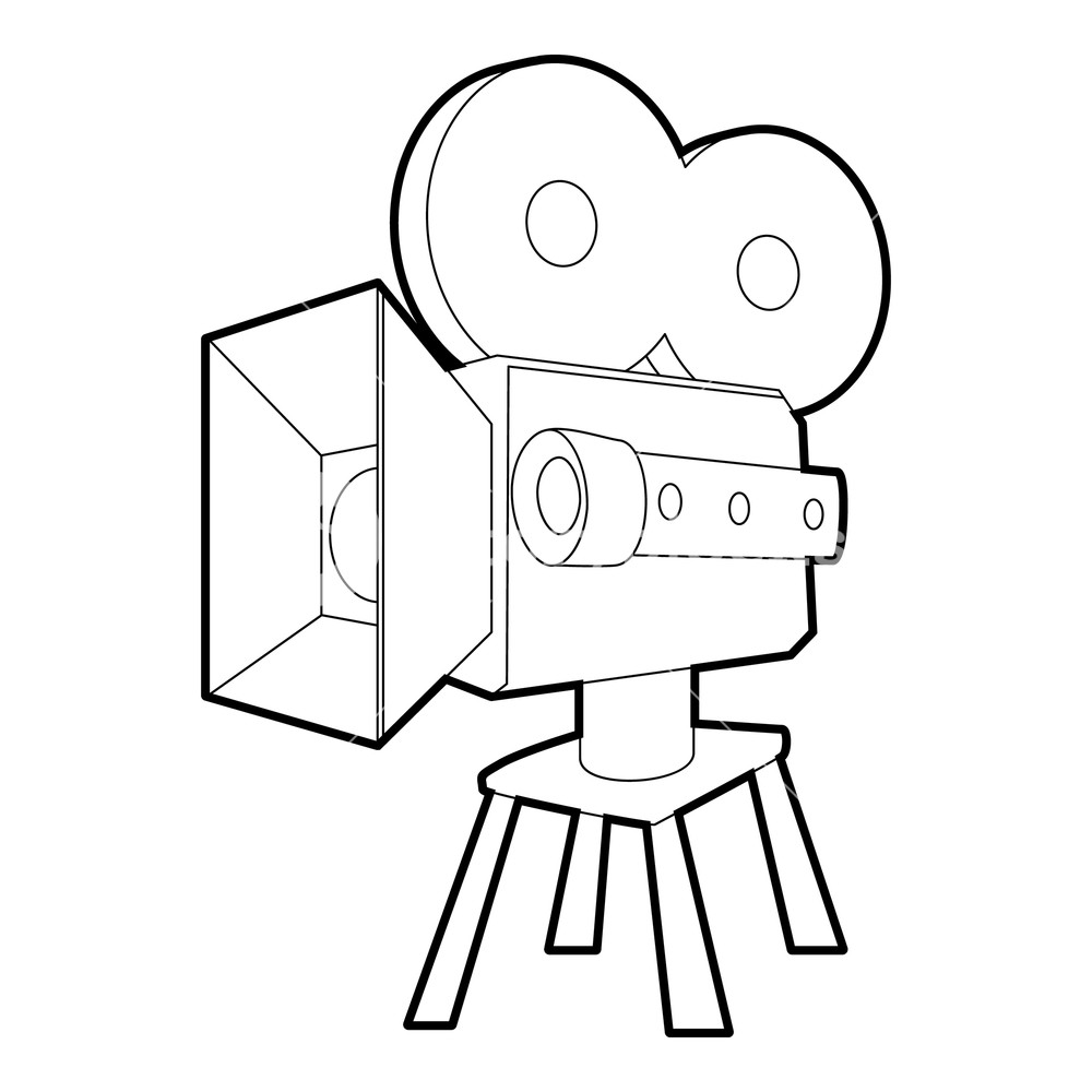 1000x1000 camera icon outline illustration of camera vector icon for web