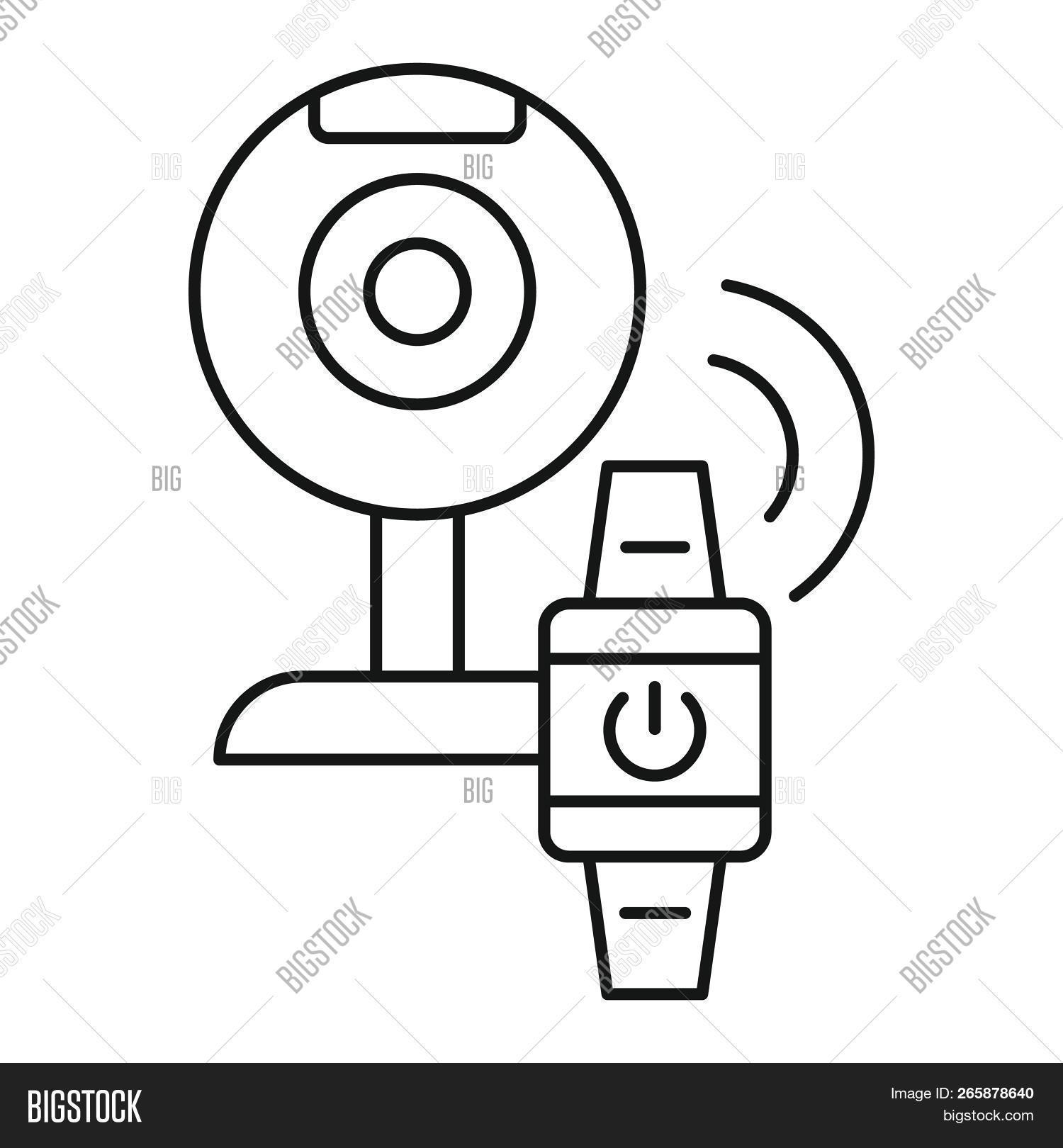 1500x1620 smart web camera icon outline illustration of smart web image