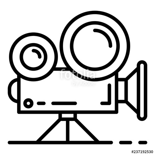 500x500 video cinema camera icon outline video cinema camera vector icon