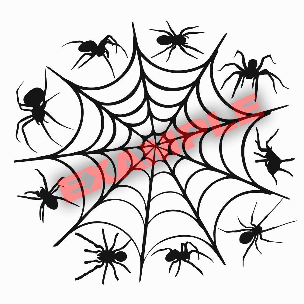 1000x1000 Duracoat Cerakote Spider Web Stencil Vinyl Paint Camouflage Camo