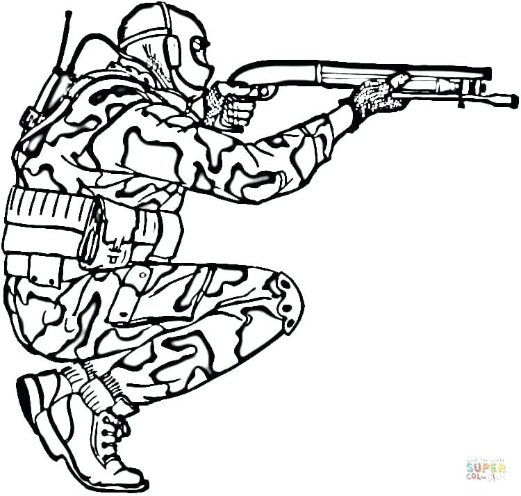 750x713 Air Force Coloring Pages Click The Soldier In Camouflage Coloring