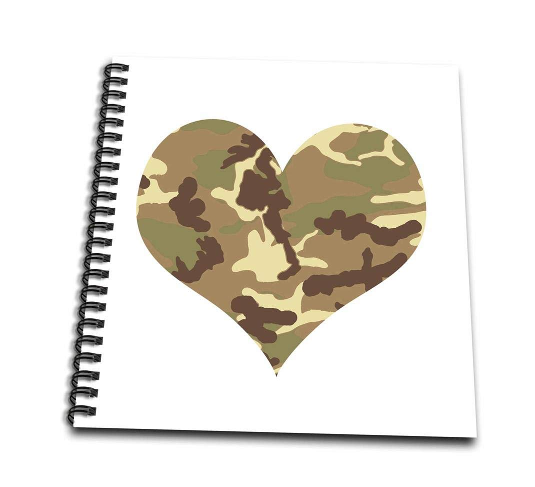 1070x973 Db Camouflage Heart Drawing Book