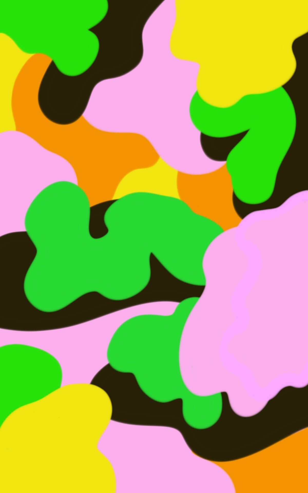 1200x1920 Psychedelic Camouflage Wallpaper For Your Phone And Tablet