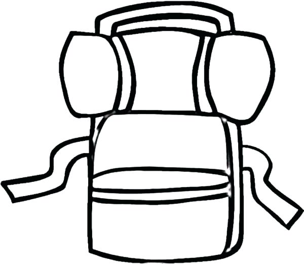 600x521 Backpack Drawing Camping For Free Download