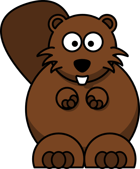 492x595 beaver beaver family transparent png clipart free download