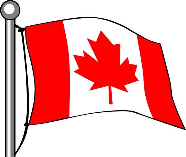 600x507 Canada Flag Flying Clip Art Free Vector In Open Office Drawing