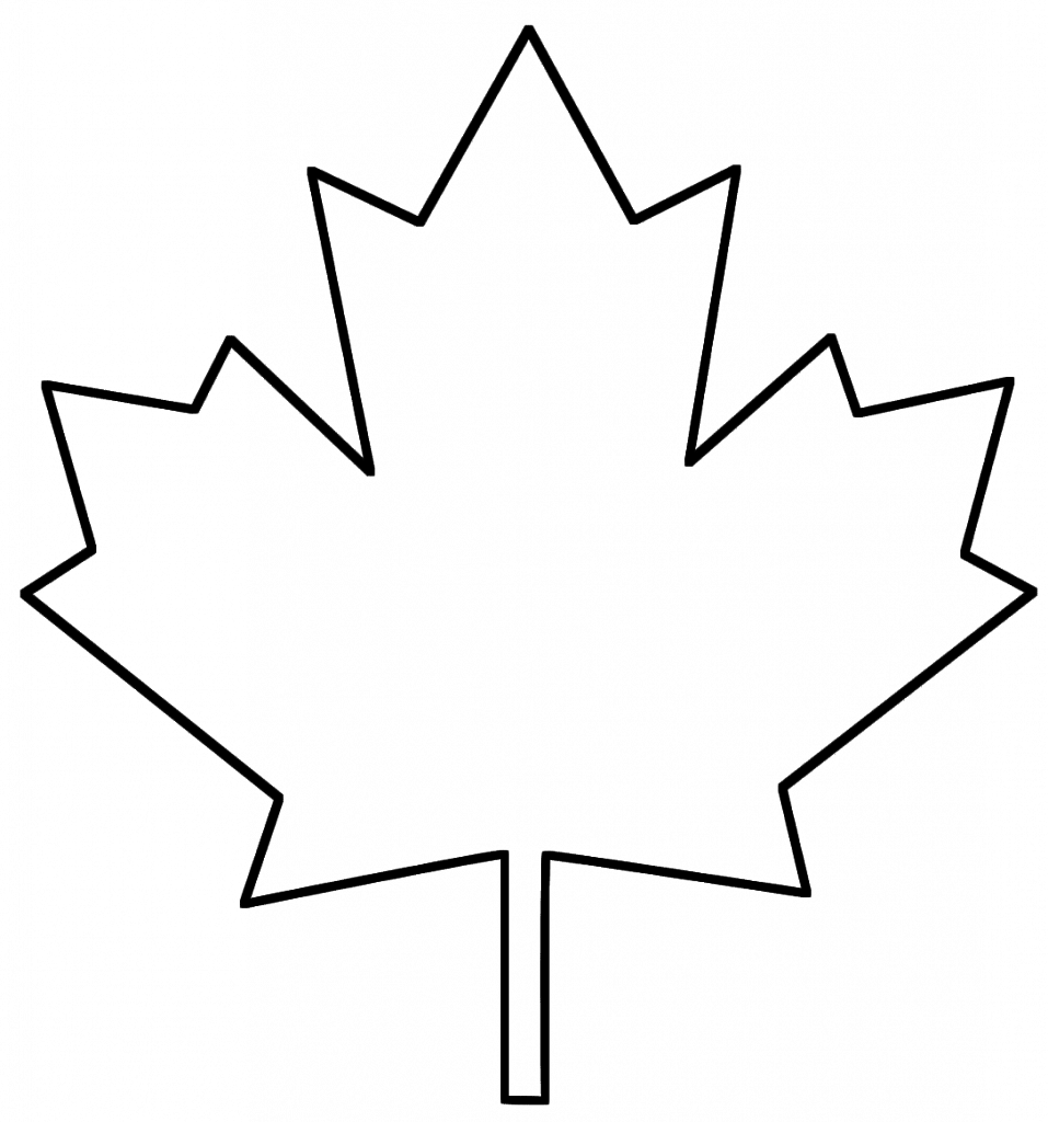 957x1024 Confidential Canadian Maple Leaf Outline Remarkable Printable