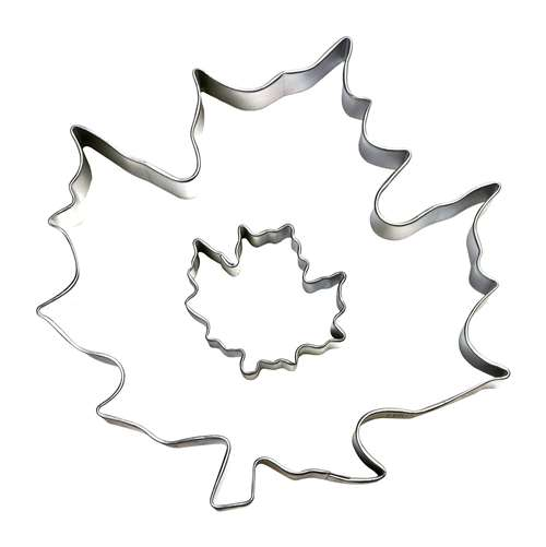 500x501 Cybrtrayd Parentchild Cookie Cutter Set Canada Maple Leaf +