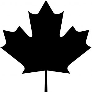 300x300 Happy Canadian Maple Leaf Outline Drawing On Red Stock Vector