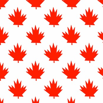350x350 Canada Maple Leaf Digital Paper