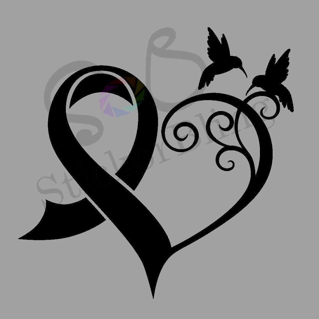 Cancer Ribbon Drawing